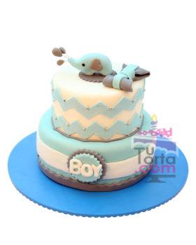 Torta para Baby Shower Elefante