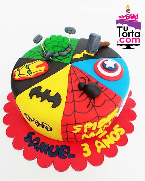 Torta Super Heroes Tutorta Com Bogot 225 Tortas Tem 225 Ticas