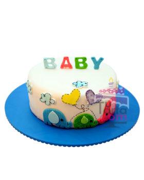 Torta para Baby Shower Corazones