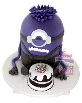 torta-de-minions-morado